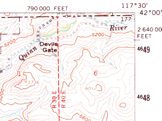 Reduced fragment of topographic map en--usgs--063k--057352--(1959)--N042-00_W117-45--N041-45_W117-30; towns and cities Mcdermitt