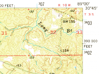 Reduced fragment of topographic map en--usgs--063k--057385--(1954)--N030-45_W089-15--N030-30_W089-00; towns and cities Lyman