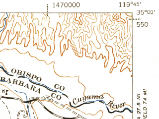 Reduced fragment of topographic map en--usgs--063k--057410--(1943)--N035-00_W120-00--N034-45_W119-45