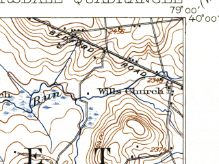 Reduced fragment of topographic map en--usgs--063k--057577--(1921)--N040-00_W079-15--N039-45_W079-00; towns and cities Casselman, Garrett, Meyersdale