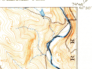 Reduced fragment of topographic map en--usgs--063k--057642--(1915)--N041-30_W075-00--N041-15_W074-45; towns and cities Milford