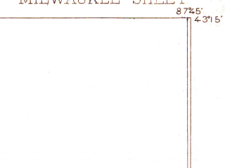 Reduced fragment of topographic map en--usgs--063k--057687--(1892)--N043-15_W088-00--N043-00_W087-45; towns and cities Milwaukee, Whitefish Bay, Brown Deer, Glendale, Fox Point