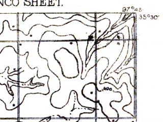 Reduced fragment of topographic map en--usgs--063k--057688--(1893)--N035-30_W098-00--N035-15_W097-45; towns and cities Minco, Tuttle, Union City