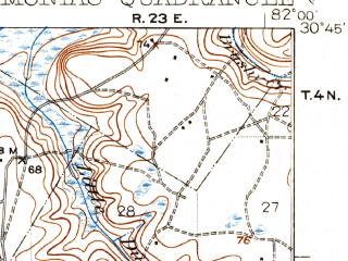 Reduced fragment of topographic map en--usgs--063k--057782--(1942)--N030-45_W082-15--N030-30_W082-00
