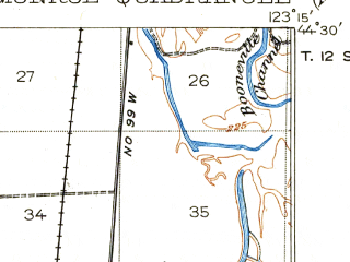 Reduced fragment of topographic map en--usgs--063k--057789--(1922)--N044-30_W123-30--N044-15_W123-15; towns and cities Monroe