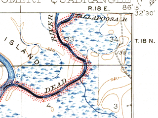 Reduced fragment of topographic map en--usgs--063k--057815--(1930)--N032-30_W086-30--N032-15_W086-15 in area of Alabama; towns and cities Montgomery, Prattville, Coosada, Millbrook