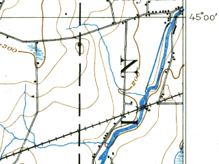 Reduced fragment of topographic map en--usgs--063k--057843--(1899)--N045-00_W073-45--N044-45_W073-30; towns and cities Altona, Mooers