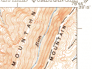 Reduced fragment of topographic map en--usgs--063k--057850--(1922)--N039-15_W079-00--N039-00_W078-45; towns and cities Moorefield