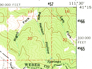 Reduced fragment of topographic map en--usgs--063k--057878--(1961)--N041-15_W111-45--N041-00_W111-30; towns and cities Morgan