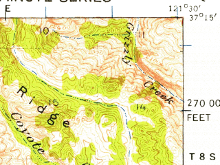 Reduced fragment of topographic map en--usgs--063k--057881--(1939)--N037-15_W121-45--N037-00_W121-30 in area of Anderson Reservoir, Coyote Reservoir; towns and cities Gilroy, Morgan Hill, San Martin