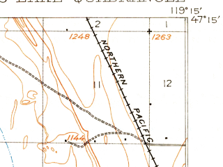 Reduced fragment of topographic map en--usgs--063k--057916--(1912)--N047-15_W119-30--N047-00_W119-15 in area of Moses Lake; towns and cities Moses Lake, Cascade Valley, Moses Lake North