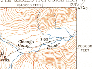 Reduced fragment of topographic map en--usgs--063k--057951--(1950)--N047-45_W123-45--N047-30_W123-30