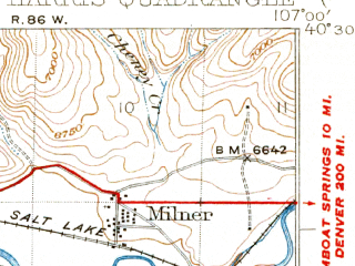 Reduced fragment of topographic map en--usgs--063k--057991--(1926)--N040-30_W107-15--N040-15_W107-00