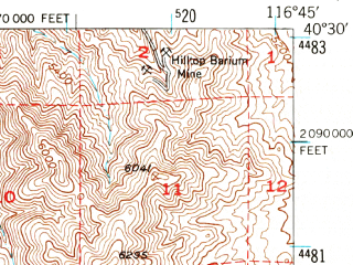 Reduced fragment of topographic map en--usgs--063k--058044--(1949)--N040-30_W117-00--N040-15_W116-45
