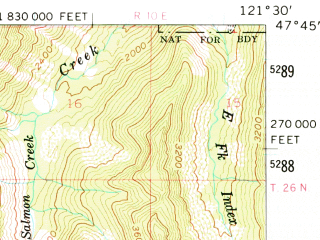 Reduced fragment of topographic map en--usgs--063k--058119--(1960)--N047-45_W121-45--N047-30_W121-30 in area of Toit Seattle Water Supply Reservoir
