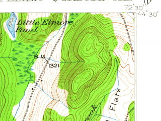 Reduced fragment of topographic map en--usgs--063k--058160--(1919)--N044-30_W072-45--N044-15_W072-30; towns and cities Montpelier, Stowe