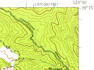 Reduced fragment of topographic map en--usgs--063k--058293--(1943)--N039-15_W123-45--N039-00_W123-30