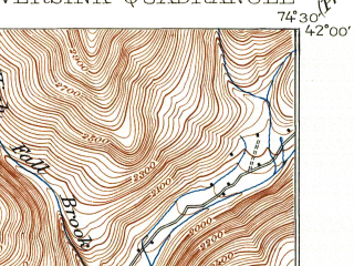 Reduced fragment of topographic map en--usgs--063k--058336--(1910)--N042-00_W074-45--N041-45_W074-30 in area of Neversink Reservoir; towns and cities Liberty