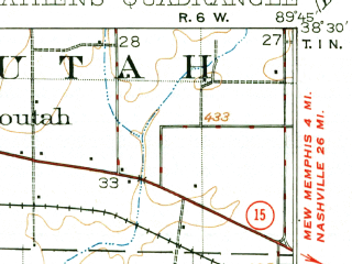 Reduced fragment of topographic map en--usgs--063k--058339--(1912)--N038-30_W090-00--N038-15_W089-45; towns and cities Smithton, Fayetteville, Freeburg