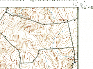 Reduced fragment of topographic map en--usgs--063k--058343--(1910)--N042-45_W075-30--N042-30_W075-15; towns and cities New Berlin, Sherburne