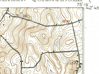 Reduced fragment of topographic map en--usgs--063k--058343--(1912)--N042-45_W075-30--N042-30_W075-15; towns and cities New Berlin, Sherburne