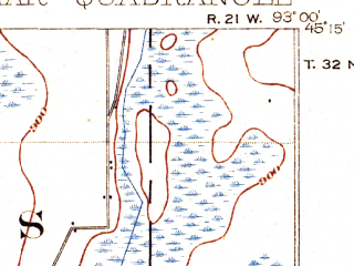 Reduced fragment of topographic map en--usgs--063k--058348--(1902)--N045-15_W093-15--N045-00_W093-00 in area of Bald Eagle Lake, Pleasant Lake, Turtle Lake; towns and cities Roseville, Shoreview, White Bear Lake, Columbia Heights, Vadnais Heights