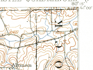 Reduced fragment of topographic map en--usgs--063k--058350--(1902)--N041-00_W080-30--N040-45_W080-15; towns and cities New Castle, Beaver Falls, Ellwood City, Eastvale, South New Castle