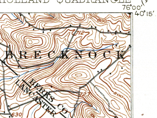 Reduced fragment of topographic map en--usgs--063k--058365--(1908)--N040-15_W076-15--N040-00_W076-00; towns and cities Ephrata, Leacock-leola-bareville, New Holland, Paradise, Reamstown