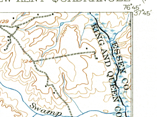 Reduced fragment of topographic map en--usgs--063k--058369--(1919)--N037-45_W077-00--N037-30_W076-45; towns and cities West Point