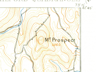 Reduced fragment of topographic map en--usgs--063k--058379--(1904)--N041-45_W073-30--N041-30_W073-15 in area of Lake Waramaug; towns and cities New Milford, New Preston
