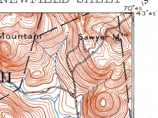 Reduced fragment of topographic map en--usgs--063k--058409--(1893)--N043-45_W071-00--N043-30_W070-45 in area of Square Pond, Balch Pond