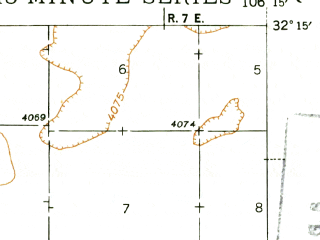 Reduced fragment of topographic map en--usgs--063k--058412--(1943)--N032-15_W106-30--N032-00_W106-15; towns and cities Chaparral