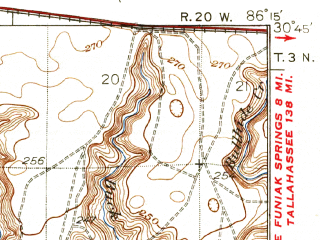 Reduced fragment of topographic map en--usgs--063k--058431--(1936)--N030-45_W086-30--N030-30_W086-15; towns and cities Niceville, Valparaiso