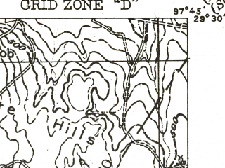 Reduced fragment of topographic map en--usgs--063k--058448--(1942)--N029-30_W098-00--N029-15_W097-45; towns and cities Nixon