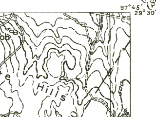 Reduced fragment of topographic map en--usgs--063k--058448--(1956)--N029-30_W098-00--N029-15_W097-45; towns and cities Nixon