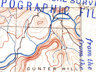 Reduced fragment of topographic map en--usgs--063k--059916--(1888)--N035-30_W093-15--N035-15_W093-00; towns and cities Russellville, Dover, London