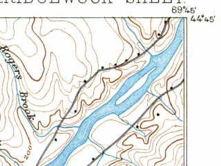 Reduced fragment of topographic map en--usgs--063k--060307--(1894)--N044-45_W070-00--N044-30_W069-45 in area of North Pond, East Pond, Ellis Pond; towns and cities Norridgewock