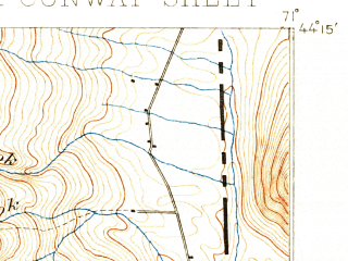 Reduced fragment of topographic map en--usgs--063k--060315--(1894)--N044-15_W071-15--N044-00_W071-00; towns and cities North Conway