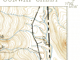 Reduced fragment of topographic map en--usgs--063k--060315--(1896)--N044-15_W071-15--N044-00_W071-00; towns and cities North Conway
