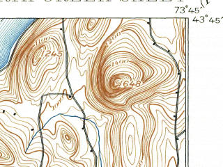 Reduced fragment of topographic map en--usgs--063k--060317--(1897)--N043-45_W074-00--N043-30_W073-45 in area of Loon Lake; towns and cities Warrensburg