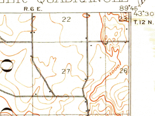 Reduced fragment of topographic map en--usgs--063k--060320--(1901)--N043-30_W090-00--N043-15_W089-45; towns and cities North Freedom, Rock Springs, West Baraboo