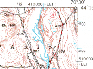 Reduced fragment of topographic map en--usgs--063k--060367--(1946)--N044-15_W070-45--N044-00_W070-30 in area of Pleasant Lake; towns and cities Bridgton, Norway, Oxford