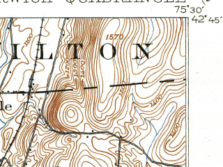Reduced fragment of topographic map en--usgs--063k--060369--(1903)--N042-45_W075-45--N042-30_W075-30; towns and cities Norwich, Earlville, Smyrna