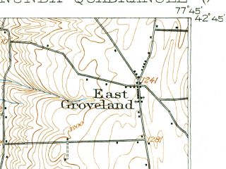 Reduced fragment of topographic map en--usgs--063k--060400--(1905)--N042-45_W078-00--N042-30_W077-45; towns and cities Mount Morris, Nunda