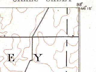 Reduced fragment of topographic map en--usgs--063k--060447--(1894)--N046-15_W098-15--N046-00_W098-00; towns and cities Ludden, Oakes