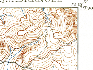 Reduced fragment of topographic map en--usgs--063k--060448--(1900)--N039-30_W079-30--N039-15_W079-15; towns and cities Bayard, Deer Park, Loch Lynn Heights