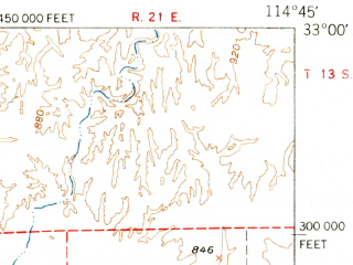 Reduced fragment of topographic map en--usgs--063k--060482--(1953)--N033-00_W115-00--N032-45_W114-45