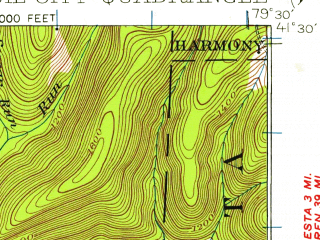Reduced fragment of topographic map en--usgs--063k--060489--(1922)--N041-30_W079-45--N041-15_W079-30; towns and cities Oil City, Rouseville, Seneca, Woodland Heights