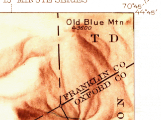 Reduced fragment of topographic map en--usgs--063k--060508--(1945)--N044-45_W071-00--N044-30_W070-45