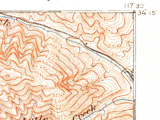 Reduced fragment of topographic map en--usgs--063k--060537--(1900)--N034-15_W117-45--N034-00_W117-30; towns and cities Rancho Cucamonga, Ontario, Upland, Chino, Claremont